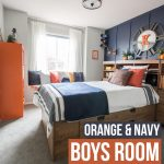 A Modern Navy & Orange Nautical Kids' Room Makeover