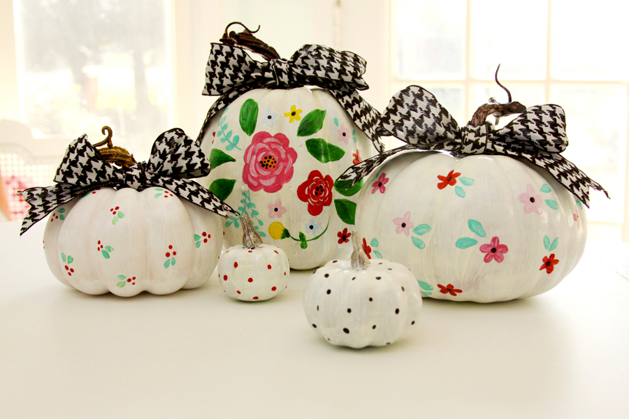 Cute And Colorful Painted Pumpkins The Creative Corner 166 DIY