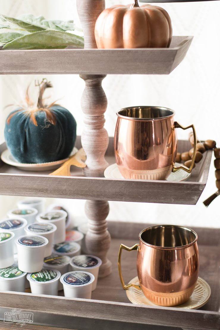 Fall Copper Coffee Station