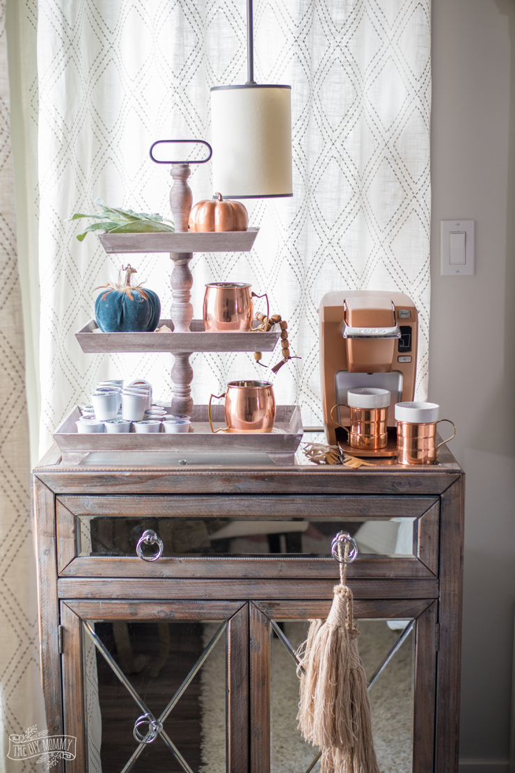 Copper Autumn Coffee Station | The DIY Mommy