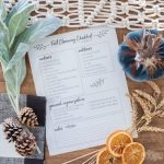 Fall Cleaning & Organizing Checklist – Free Printable