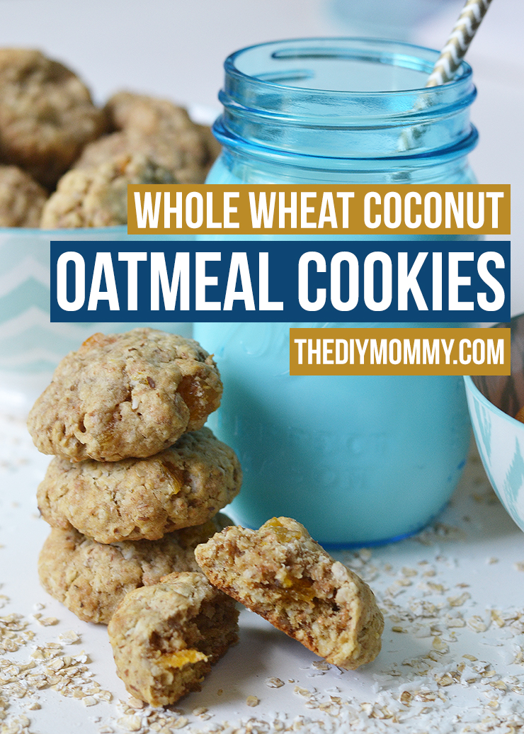 Whole Wheat Coconut Oatmeal Cookies