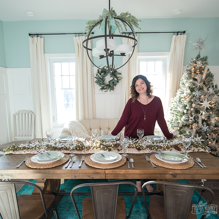French Country Farmhouse Christmas Dining Room U0026 Table Decorating Ideas