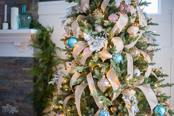 how to put ribbon on a christmas tree the diy mommy