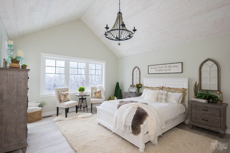 Rustic traditional lake house master bedroom reveal one room challenge the diy mommy Traditional rustic master bedroom