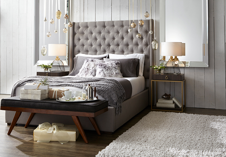 Holiday Bedroom Decorating Ideas Part - 29: Rustic Glam Holiday Christmas Bedroom Decorating Ideas