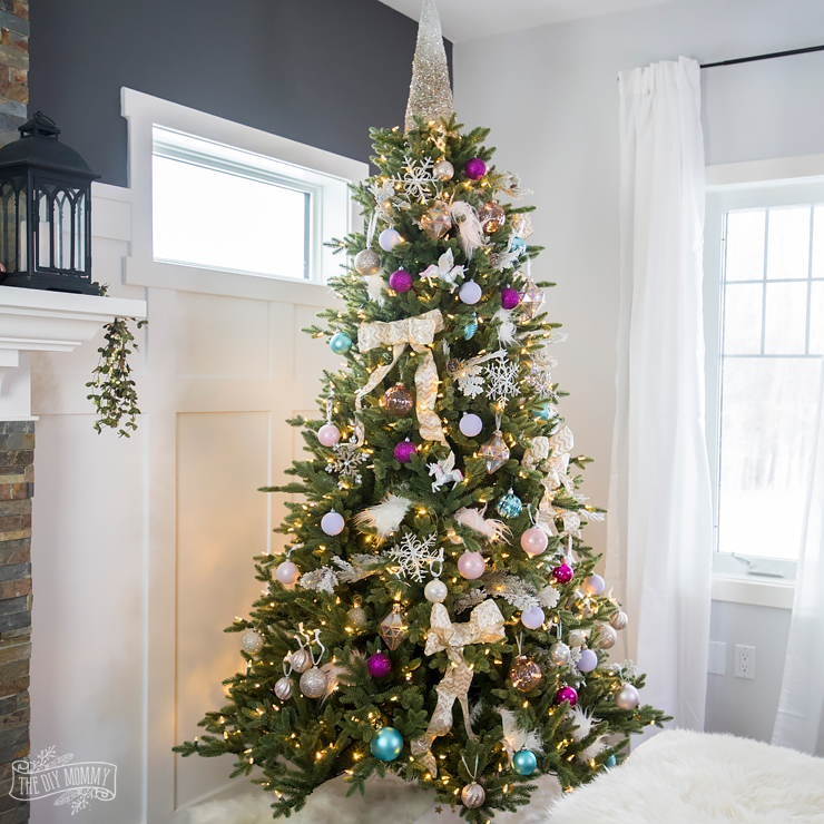 Unicorn Inspired Christmas Tree Decorating IdeaUnicorn Inspired Christmas Tree Decorating Idea