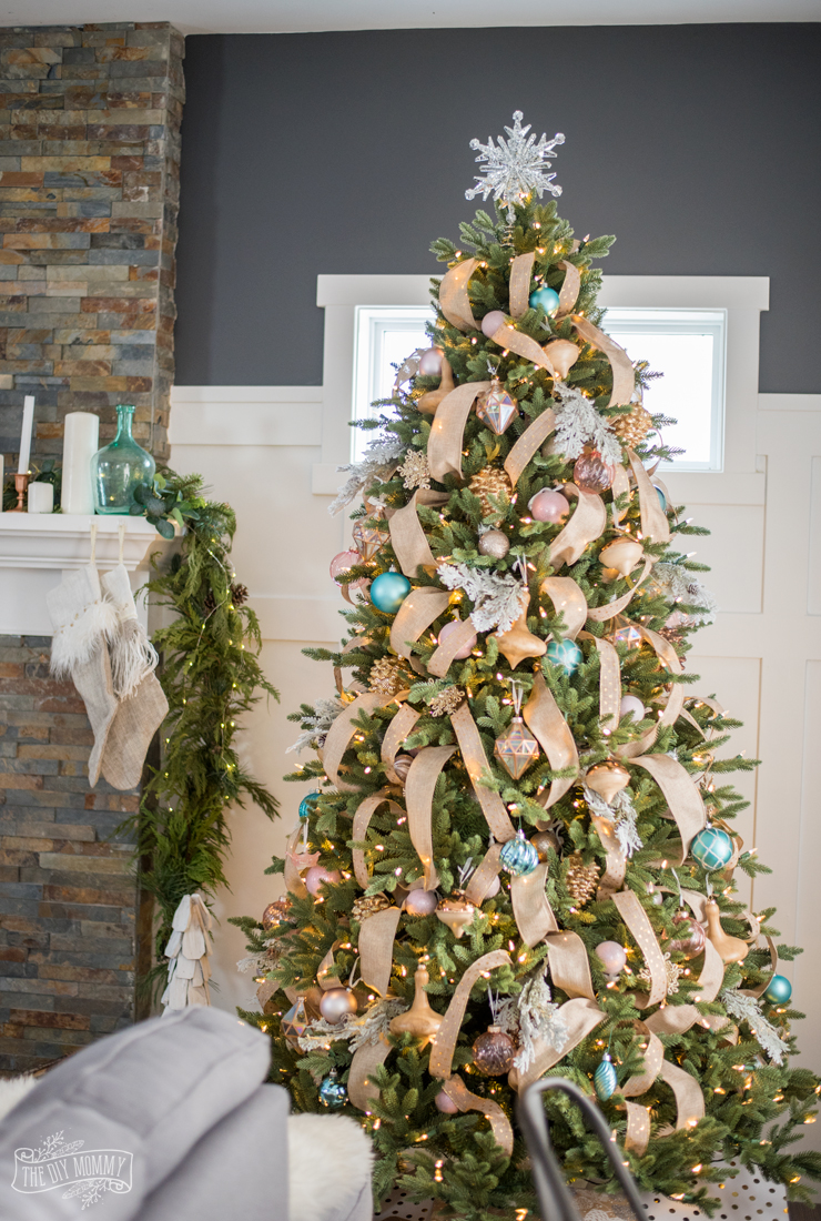 rustic glam farmhouse christmas tree - Farmhouse Christmas Tree Decorations