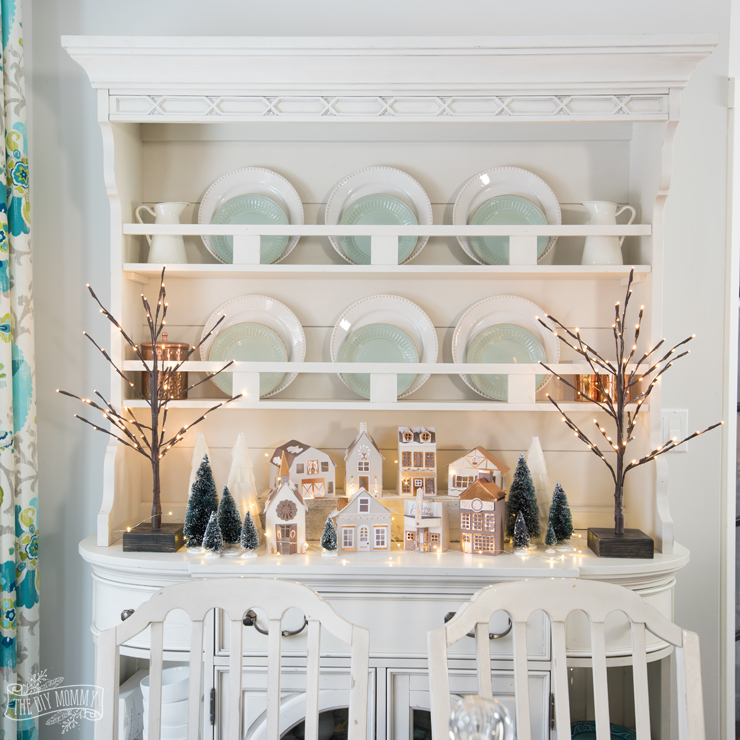 Modern French Country Christmas Kitchen