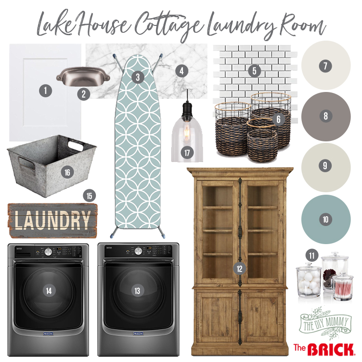 Lake House Cottage Laundry Room Mood Board