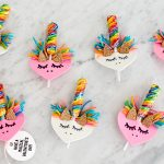 Make DIY Unicorn Valentines from Foam Hearts