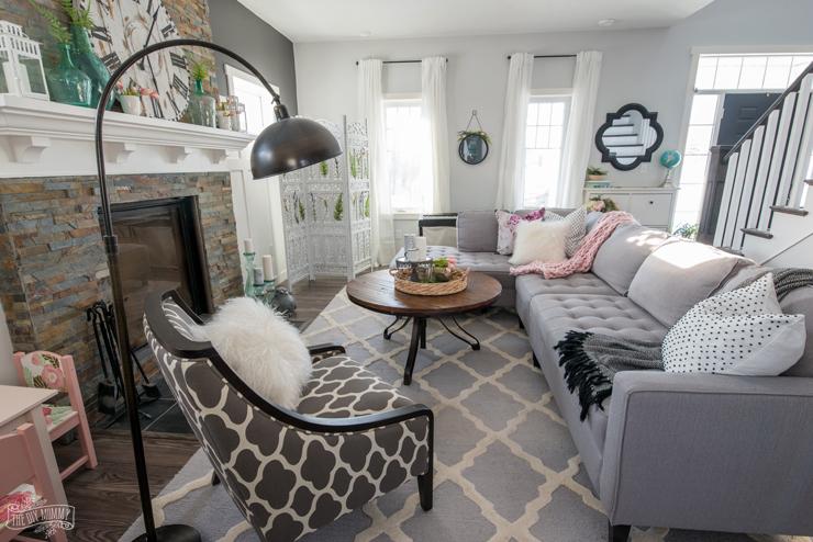 2018 Spring Decor Farmhouse Living Room Tour