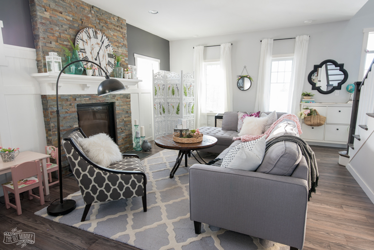2018 Spring Decor Farmhouse Living Room Tour
