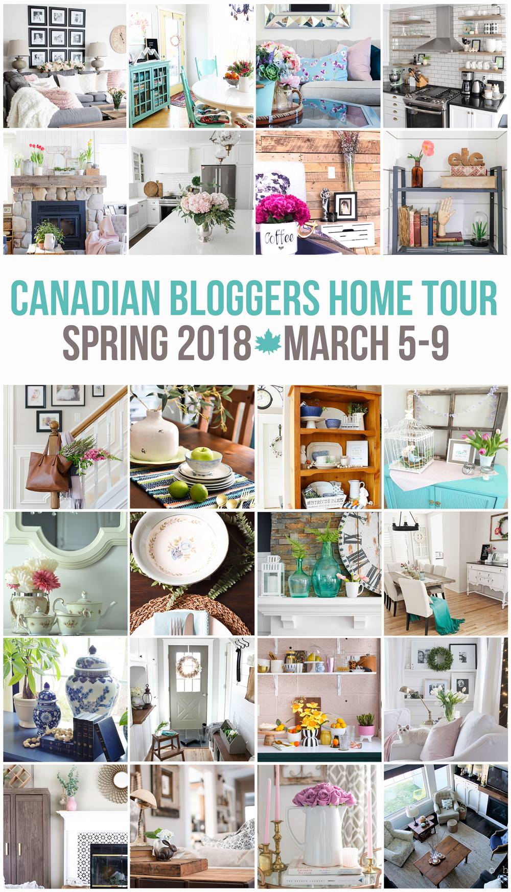 Canadian BLoggers Spring 2018 Home Tour