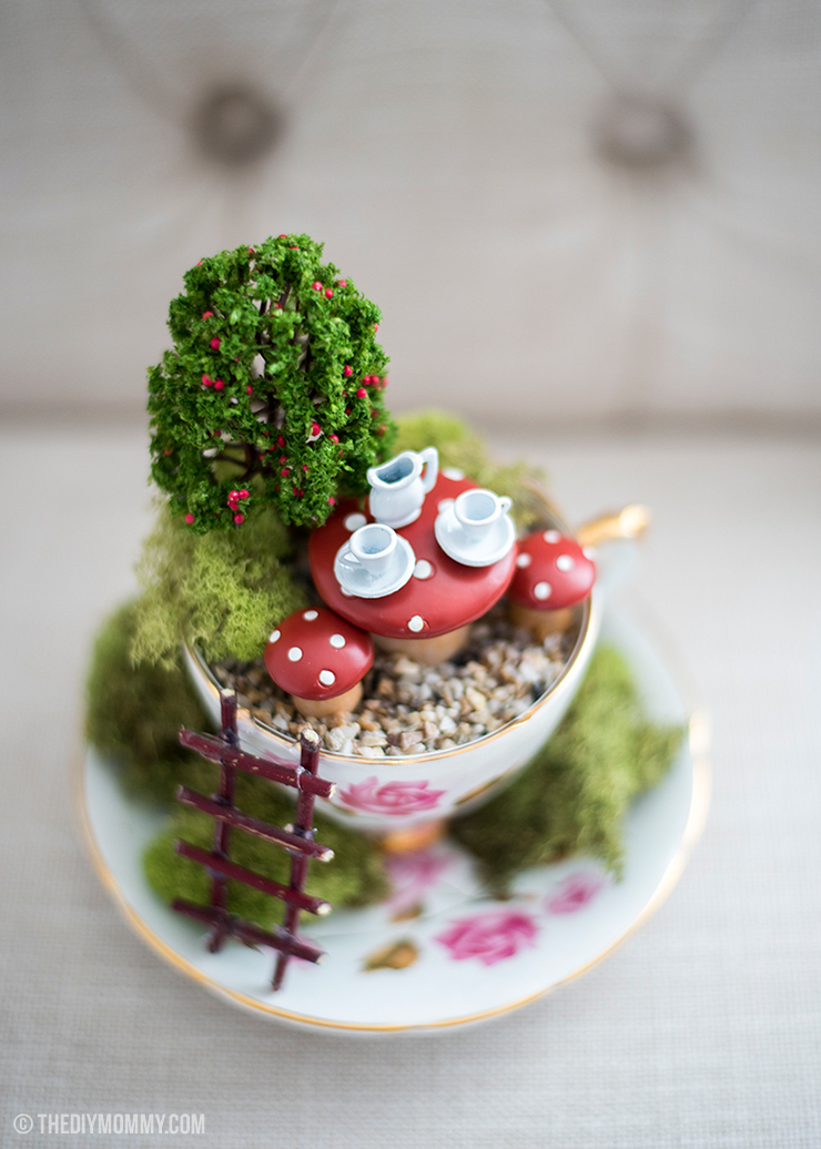 How to make a fairy garden in a thrifted teacup