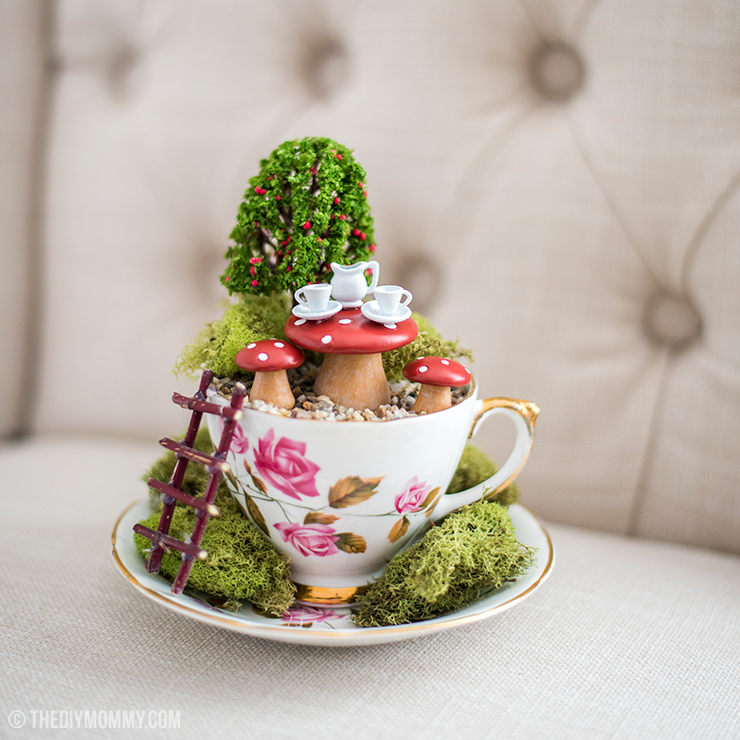 Make A Fairy Garden In A Thrifted Teacup The Diy Mommy