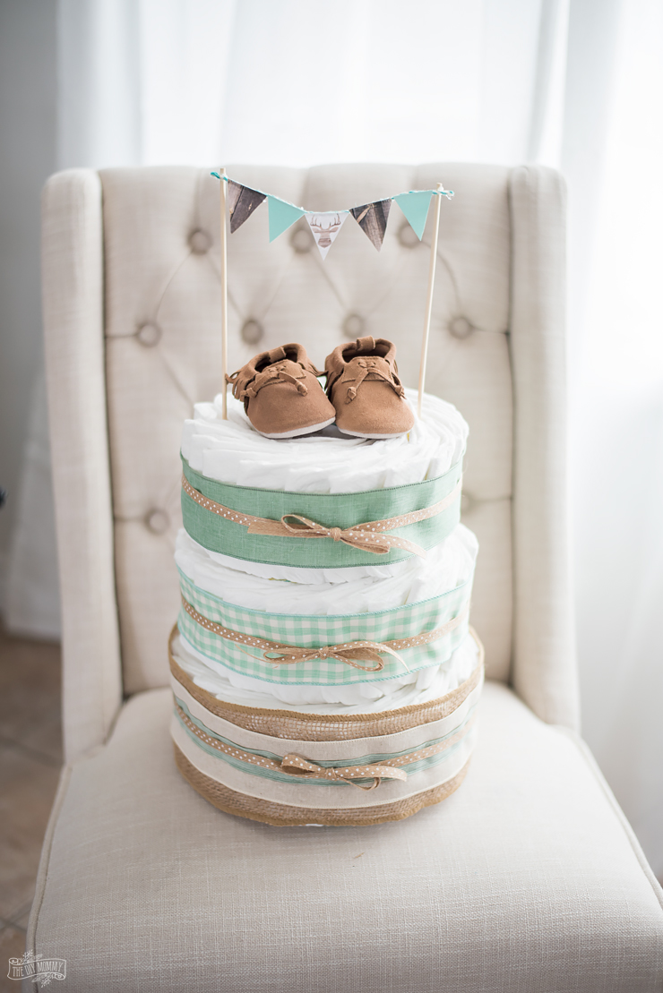 How To Make A Diaper Cake With Pampers The Diy Mommy