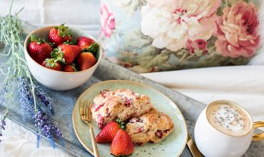 Strawberry Lavender Scones Mother's Day Breakfast in Bed Recipe