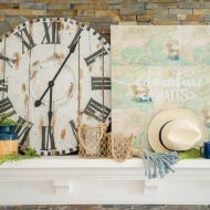 Our Adventurous Summer Mantel Decor