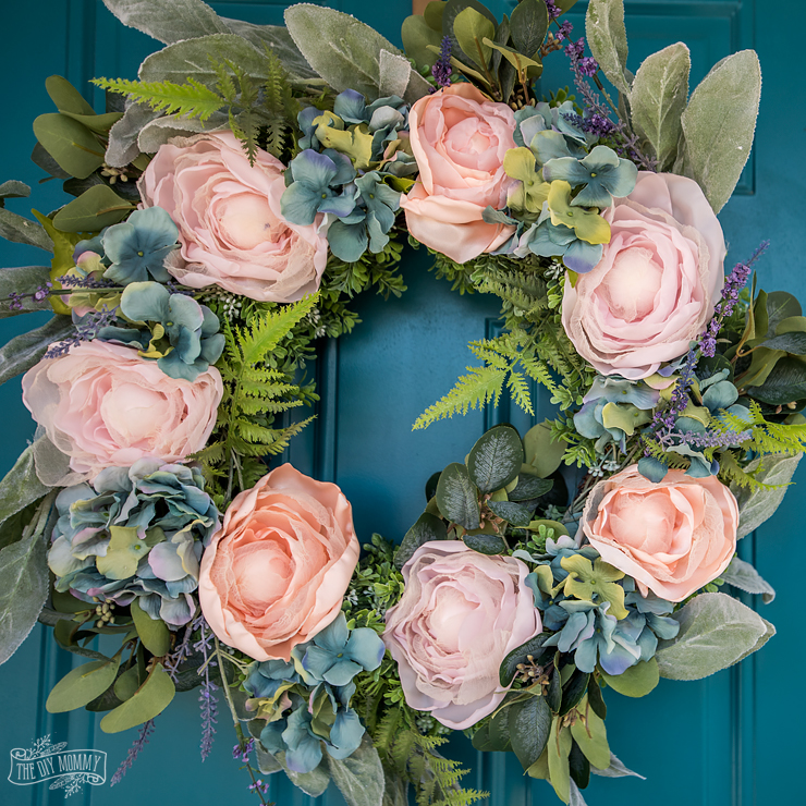 DIY French Country Floral Wreath for Summer