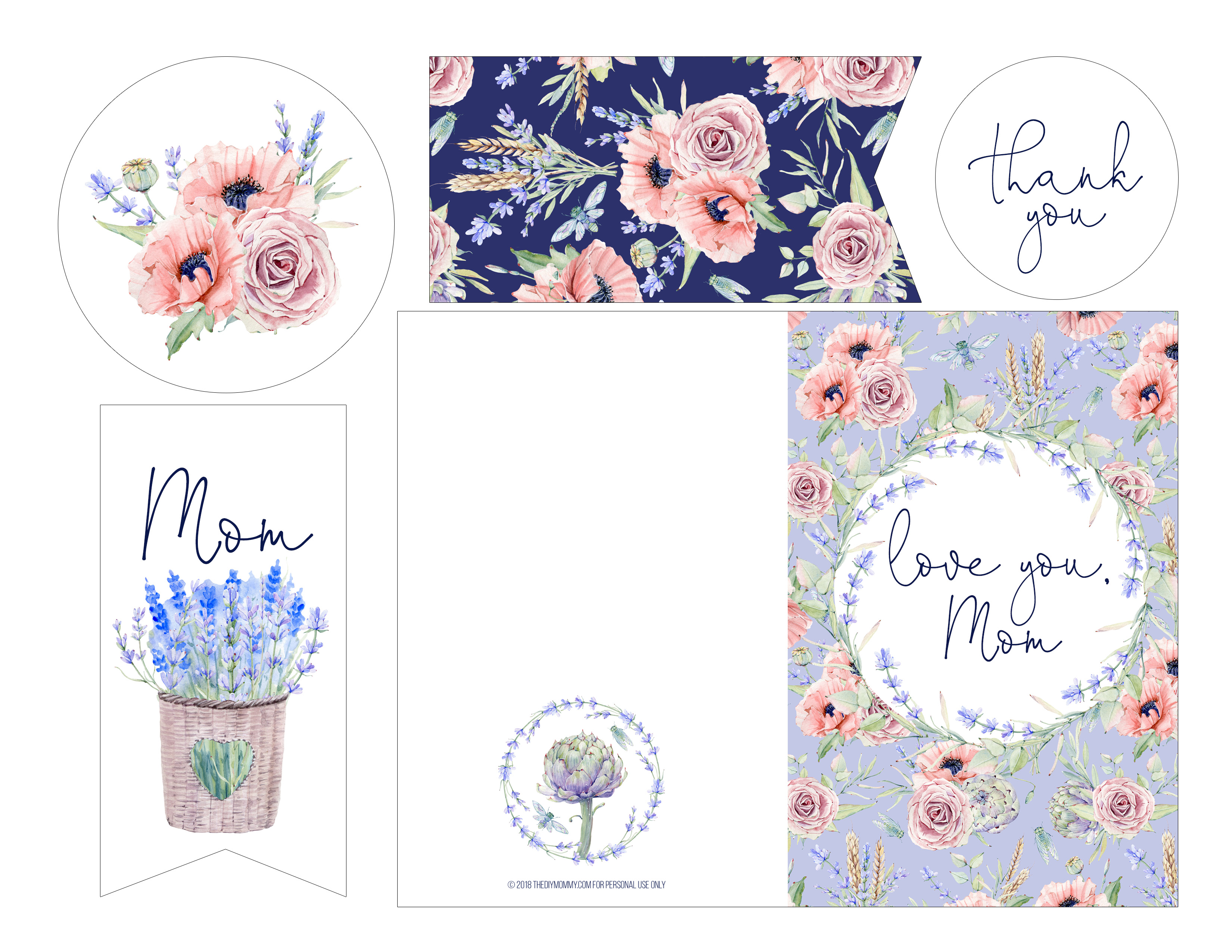 Mother S Day Tags: French Country Inspired Mother's Day Printable Card & Tags