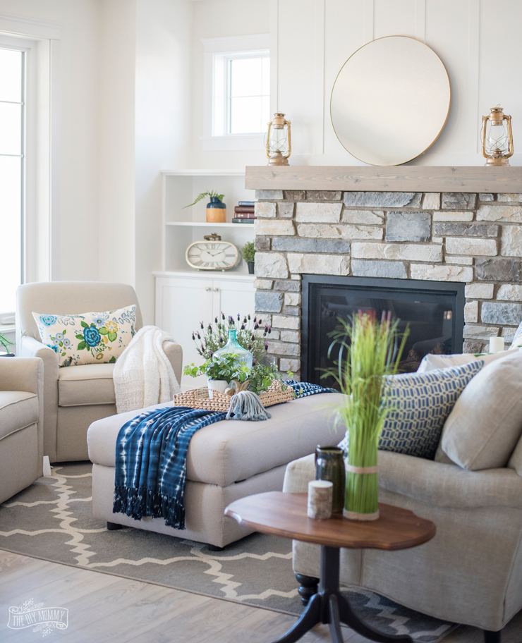 Cottage Home Decorating: Traditional Coastal Cottage Living Room Reveal