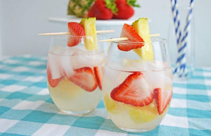 Make a Strawberry Pineapple Sangria