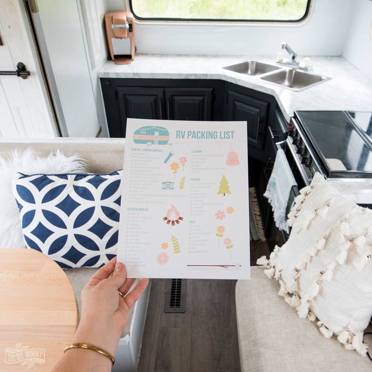 RV Packing List printable by The DIY Mommy