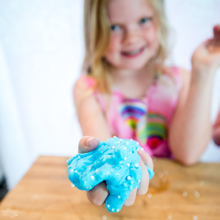 The BEST DIY slime recipe from The DIY Mommy