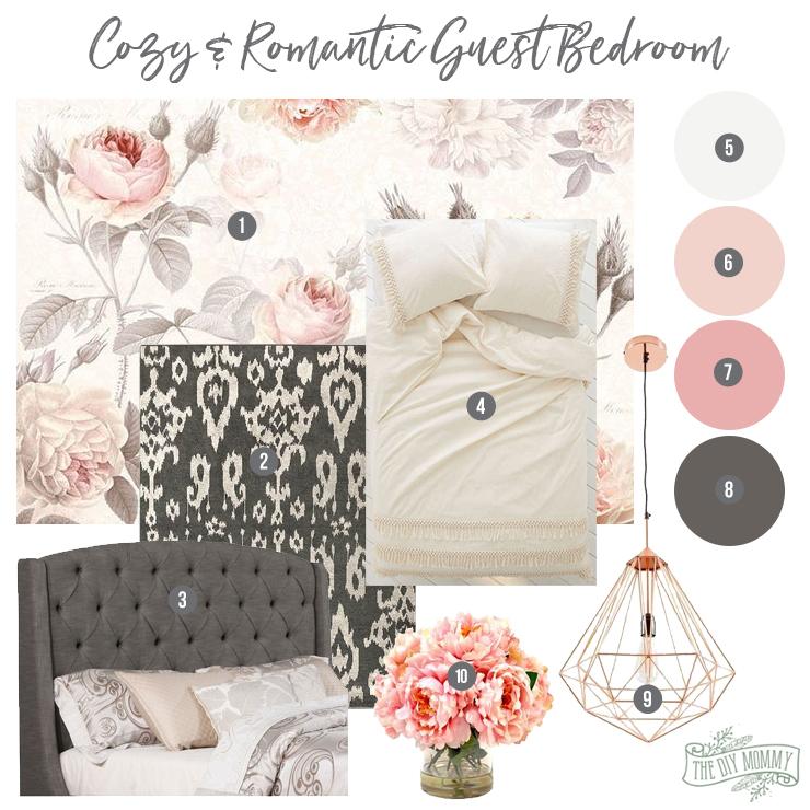 Cozy & Romantic Guest Bedroom Inspiration