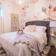 Feminine Modern Farmhouse Guest Bedroom Makeover