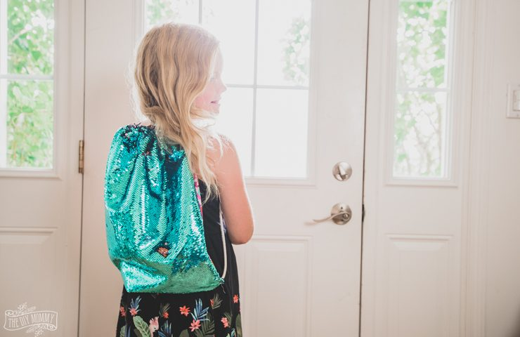 Make a Mermaid Sequin Drawstring Backpack