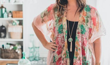 Easy DIY Kimono Cardigan from a Scarf - a 20 min sewing project with only two seams and a hem!