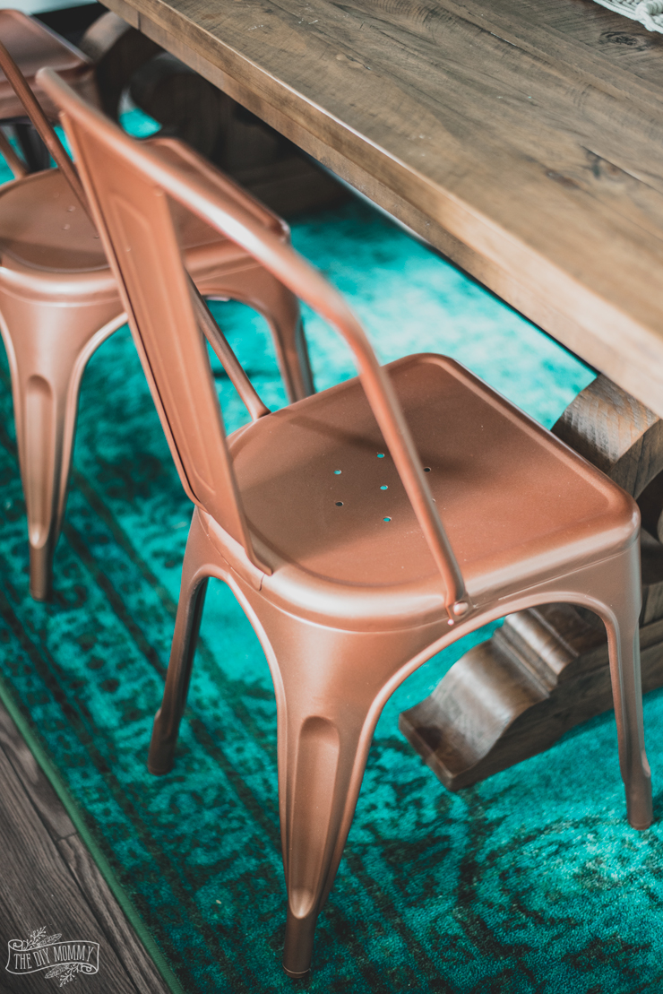 How to spray paint furniture - tips & a copper farmhouse chair makeover