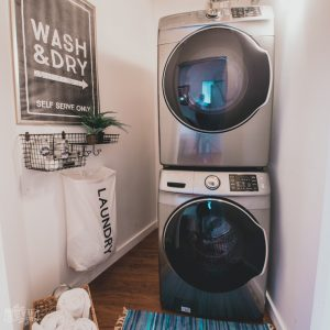 Modern Industrial Small Laundry Room Makeover