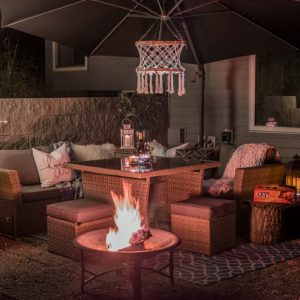 Our Night Time Patio Tour with Duraflame