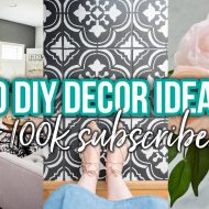 100 Beautiful DIY Decor Ideas for 100k YouTube Subscribers!