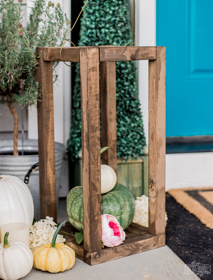 DIY Rustic Wooden Lantern for Under $10