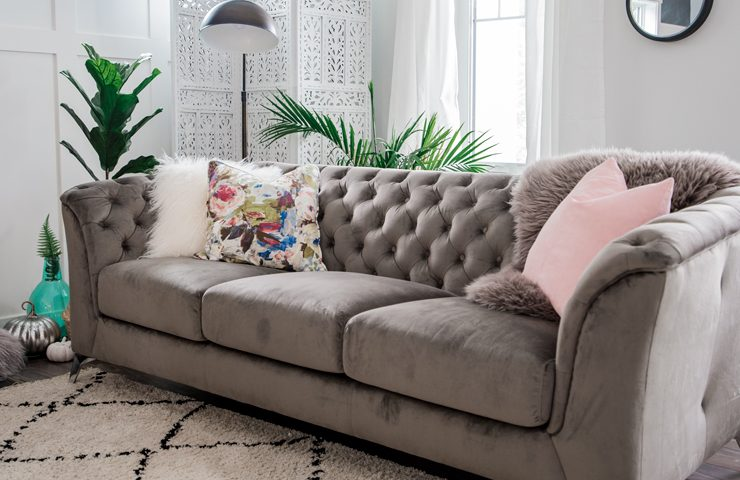 How to Style a Velvet Couch for Fall