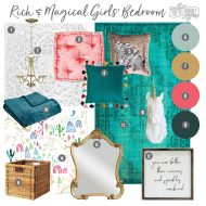 Mood Board: A Rich & Magical Girls' Bedroom Design