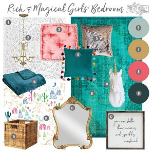 Mood Board: Rich & Magical Girls Bedroom Design