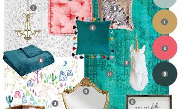 Mood Board: Rich & Magical Girls Bedroom Design