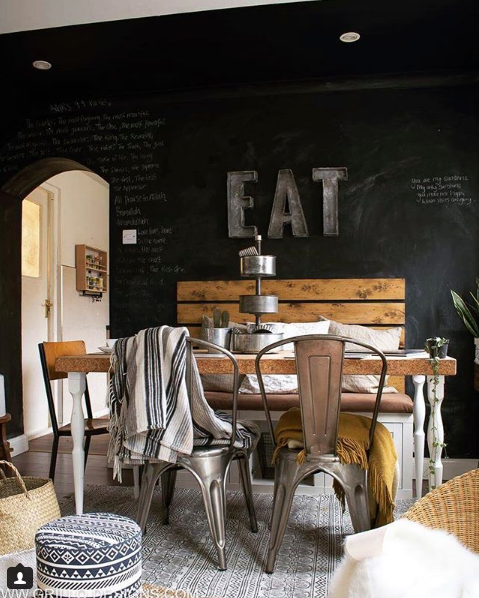 Grillo Designs' beautiful, industrial dining room