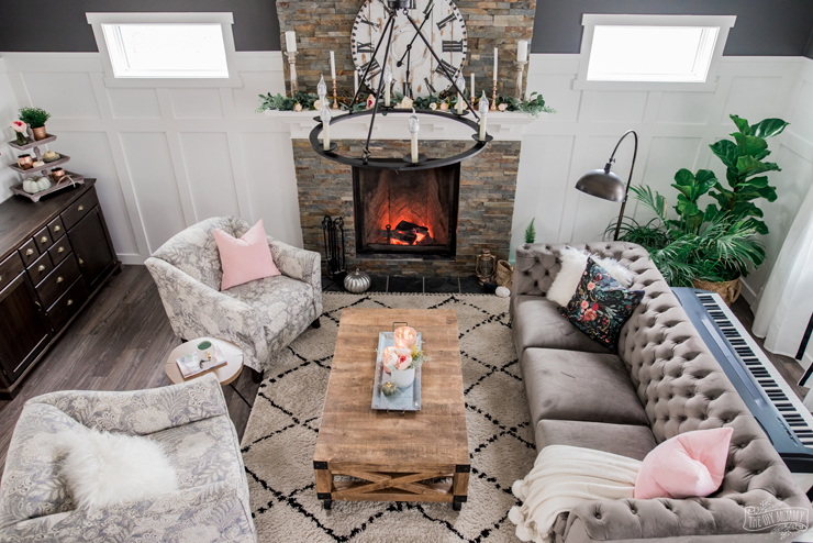 A Cozy Rustic Glam Living Room Makeover For Fall The