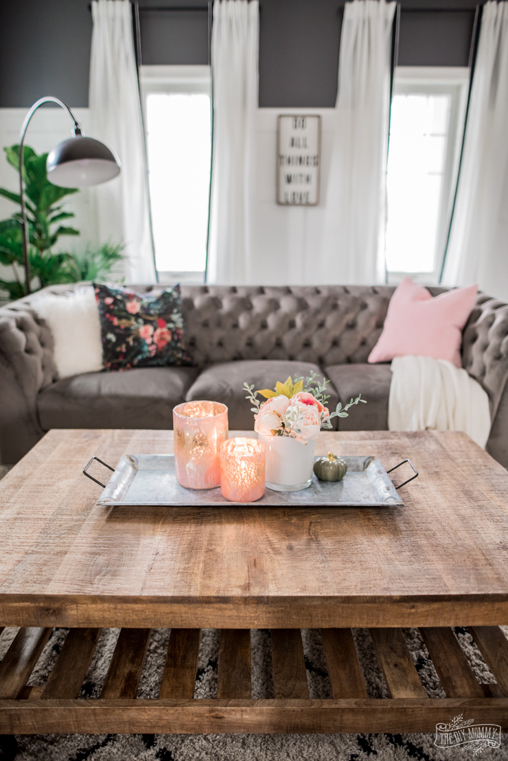 A Cozy Rustic Glam Living Room Makeover For Fall The Diy Mommy