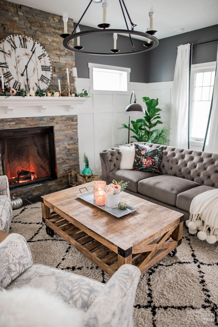 . A Cozy  Rustic Glam Living Room Makeover for Fall   The DIY Mommy