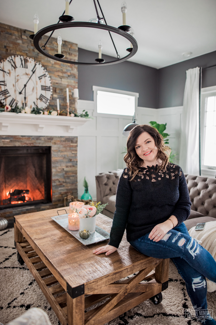 Creating A Rustic Living Room Decor: A Cozy, Rustic Glam Living Room Makeover For Fall