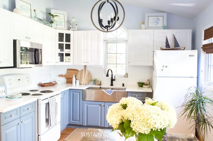 Sustain My Craft Habit's beautiful, coastal kitchen
