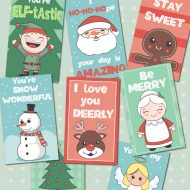 Adorable & Free Christmas Lunch Box Notes Printables