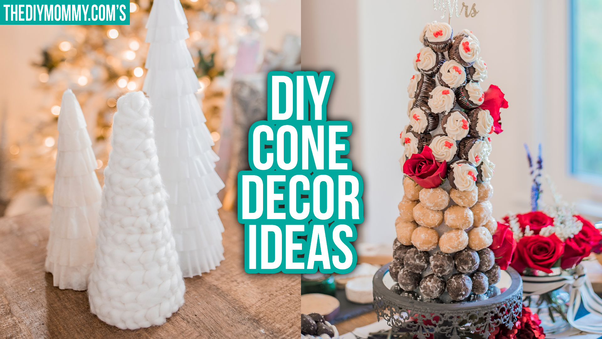 DIY Cone Decor Ideas for Christmas
